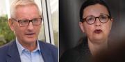 Carl Bildt och gymnasieministern Anna Ekström. TT
