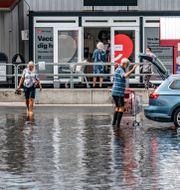 Kristianstad drabbades nyligen av kraftiga översvämningar.  Johan Nilsson/TT / TT NYHETSBYRÅN