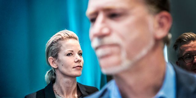 Moderaternas Anna König Jerlmyr och Miljöpartiets Daniel Helldén. Tomas Oneborg/SvD/TT / TT NYHETSBYRÅN