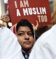 Arkivbild på demonstration mot förbudet. TIMOTHY A. CLARY / AFP