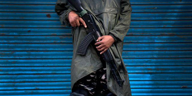 Indisk soldat i indiska Kashmir Dar Yasin / TT NYHETSBYRÅN/ NTB Scanpix