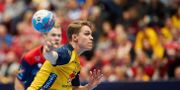 Lucas Pellas under matchen mot Norge i söndags. Andreas Hillergren/TT / TT NYHETSBYRÅN
