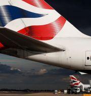Arkivbild: British Airways-plan parkerade på Heathrows flygplats utanför London, oktober 2016.  Stefan Wermuth / TT NYHETSBYRÅN