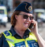 Ewa-Gun Westford vid Malmöpolisen. Johan Nilsson/TT / TT NYHETSBYRÅN