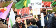 Kurdisk demonstration. Fredrik Sandberg/TT / TT NYHETSBYRÅN