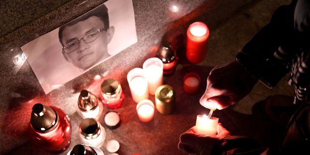 Jan Kuciak mördads i februari. Radovan Stoklasa / TT NYHETSBYRÅN