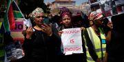 En tidigare demonstration mot kvinnovåld i Sydafrika. Jerome Delay / TT NYHETSBYRÅN