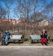 Social distansering i Stockholm. Helena Landstedt/TT / TT NYHETSBYRÅN