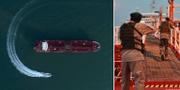 Bilder från fartygskapningen. TT