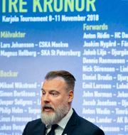 Tre Kronors förbundskapten Rikard Grönborg presenterar truppen. Jessica Gow/TT / TT NYHETSBYRÅN