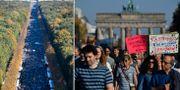 Bilder från Berlin idag. TT