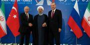 Putin, Rouhani och Erdogan möts i Teheran idag. Handout . / TT NYHETSBYRÅN