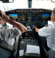 Inuti cockpit på Boeings 737 Max . LM Otero / TT NYHETSBYRÅN