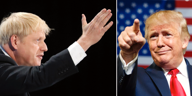 Boris Johnson och Donald Trump. TT