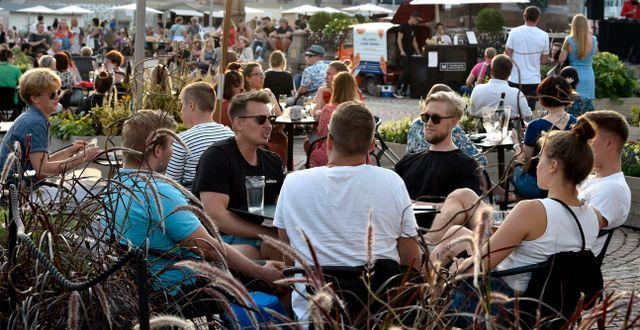 Restaurang i Helsingfors den 17 juli. Jussi Nukari / TT NYHETSBYRÅN