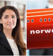 Norwegian Finans vd Tine Gottlob Wollebekk  Norwegian Finans/TT