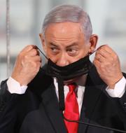 USA:s Donald Trump och Israels Benjamin Netanyahu.  TT