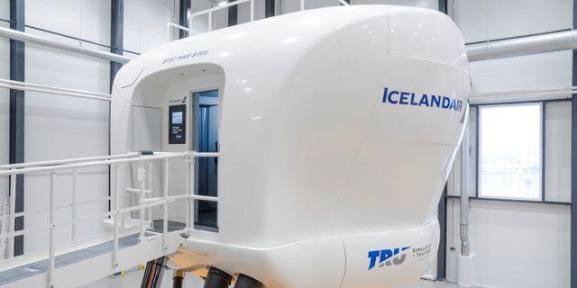 Icelandairs Boeing 737 Max-simulator vid TRU:s anläggning på Island GEIRIX / TT NYHETSBYRÅN