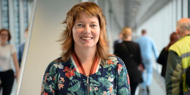 Vänsterpartiets toppnamn Malin Björk. Anna Karolina Eriksson/TT / TT NYHETSBYRÅN