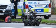 Polisens bombrobot under arbete i Malmö. Johan Nilsson/TT / TT NYHETSBYRÅN