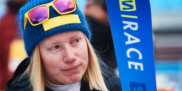Sandra Näslund under OS i Pyeongchang. Andreas Hillergren/TT / TT NYHETSBYRÅN