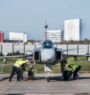 Testflygning av nya JAS 39 Gripen E i Linköping.  Lars Pehrson/SvD/TT / TT NYHETSBYRÅN