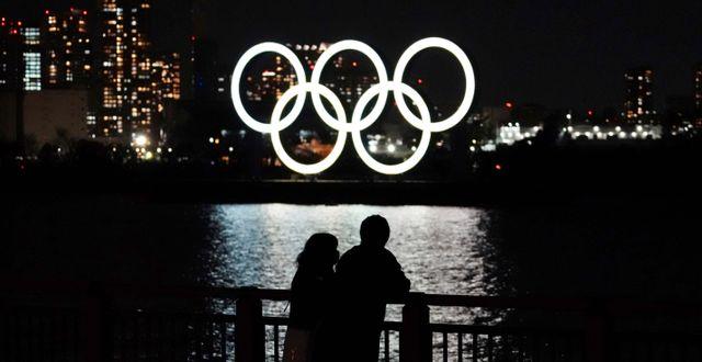 OS-ringarna i Tokyo.  Eugene Hoshiko / TT NYHETSBYRÅN