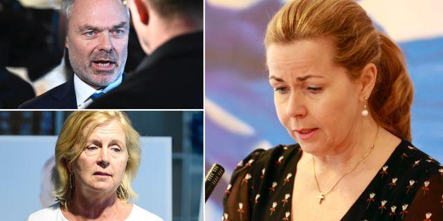 Jan Björklund, Maria Arnholm och Cecilia Wikström.  TT