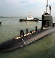 Malaysisk ubåt i Scorpene-klassen. © Bazuki Muhammad / Reuters / TT NYHETSBYRÅN
