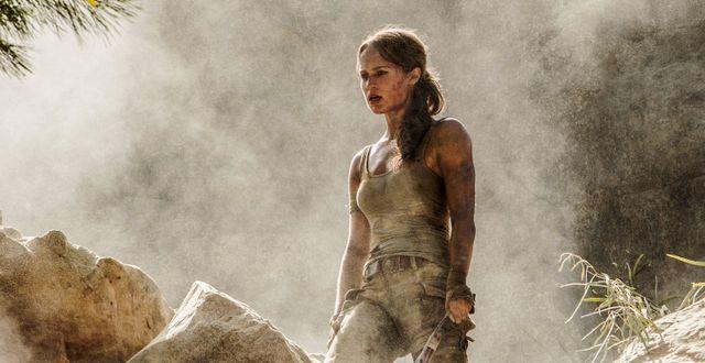 """MGM ligger bland annat bakom """"Tomb Raider"""" med Alicia Vikander från 2018.  Ilze Kitshoff / TT NYHETSBYRÅN"""