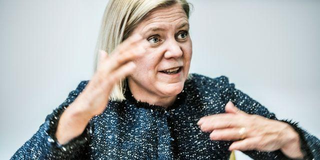 Magdalena Andersson (S), finansminister.  Lars Pehrson/SvD/TT / TT NYHETSBYRÅN