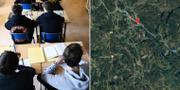 arkiv- och kartbilder TT / Google maps