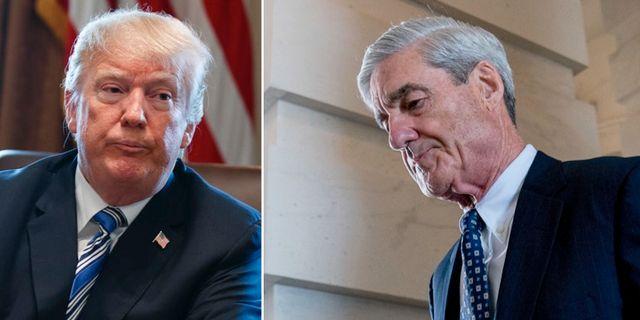 Doanld Trump och Robert Mueller.  TT