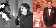Hattie McDaniel tar emot sin Oscarsstatyett 1939. TT