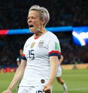 Megan Rapinoe gjorde USA:s båda mål. Francisco Seco / TT NYHETSBYRÅN/ NTB Scanpix