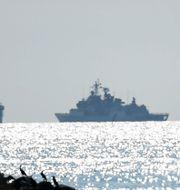Ett ryskt krigsfartyg i Öresund vid ett tidigare tillfälle Johan Nilsson/TT / TT NYHETSBYRÅN