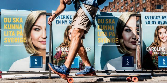 Valaffischer i somras. Tomas Oneborg/SvD/TT / TT NYHETSBYRÅN