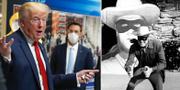 Donald Trump/Skådespelaren Clayton Moore som Lone Ranger. TT