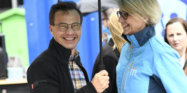Ulf Kristersson/Elisabeth Svantesson. Erik Simander/TT / TT NYHETSBYRÅN