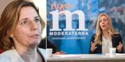 Isabella Lövin (MP) och Jessica Rosencrantz (M). TT