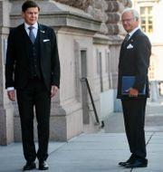 Kung Carl Gustaf, drottning Silvia och riksdagens talman Andreas Norlén. Sören Andersson/TT / TT NYHETSBYRÅN