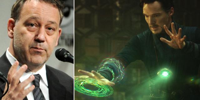 Sam Raimi/Benedict Cumberbatch som Doctor Strange. TT