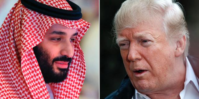 Mohammed bin Salman, Donald Trump. TT