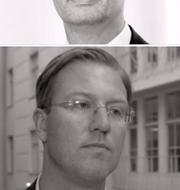 Analytikerna Bertil Nilsson och Albin Sandberg tillsammans med Biljana Pehrson och Rutger Arnhult.