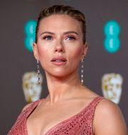 Scarlett Johansson vid Baftagalan i London, februari 2020.  Vianney Le Caer / TT NYHETSBYRÅN
