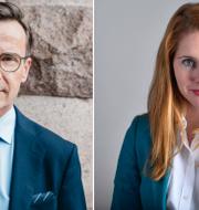 Ulf Kristersson och Josefin Malmqvist. TT