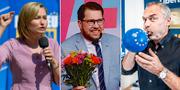 Ebba Busch Thor, Jimmie Åkesson och Jan Björklund. TT