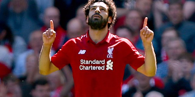 Mohamed Salah.  Dave Thompson / TT / NTB Scanpix