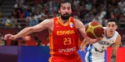 Spaniens Sergio Llull under finalen. GREG BAKER / AFP