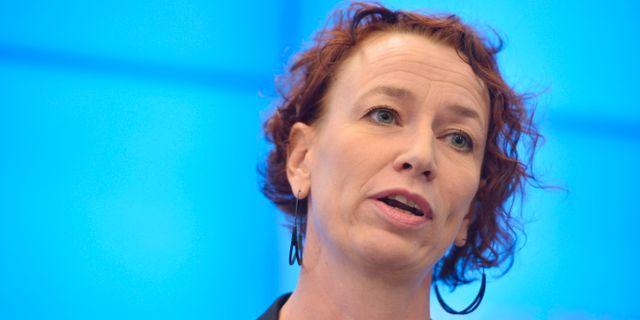 Christina Höj Larsen (V).  Vilhelm Stokstad/TT / TT NYHETSBYRÅN
